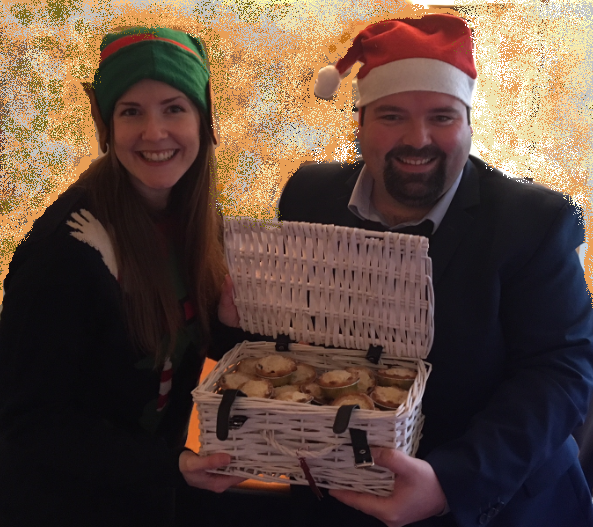 Terry Faulker at BRE Winner, Christmas 2017 win a month's supply of mince pies